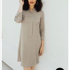 NWT Carly Jean LA Alisa Light Olive Dress Sz S